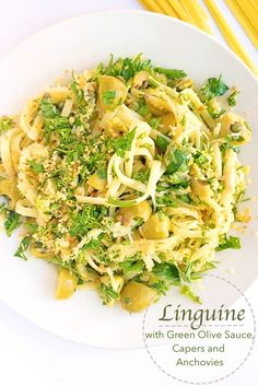 If you're looking for an easy and delicious meal, this Linguine with Green Olive Sauce, Capers and Anchovies will quickly become your favorite pasta recipe.