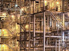 industrial, beauty, factory buildings 工場
