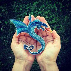Quilled dragon by senaruna.etsy.com