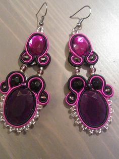 My 1st soutache earrings
