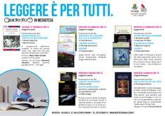 LEGGERE E' PER TUTTI dal 13 febbraio al 18 marzo alla Mediateca di San Lazzaro di Savena a #Bologna