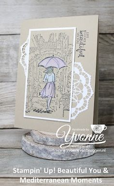 Yvonne is Stampin' & Scrapping: Stampin' Up! Beautiful You & Mediterranean Moments card #stampinup