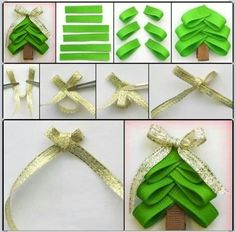 Christmas decorations homemade, would be cute on the front of a card