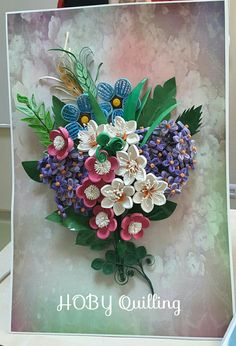 Quilling Craft, Quilling Flowers, Quilling Ideas, Quilled Paper Art, Paper Strips, Paper Hearts, Flower Pictures, Frames On Wall, Jewelry Art