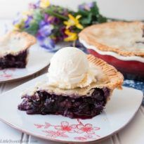 Homemade Blueberry Pie (video) - Little Sweet Baker