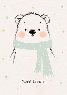 Affiche déco pour chambre d'enfant * Sweet dream. : Décoration pour enfants par pagaille-et-cie