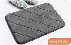 $5.80 for Quilted Design Memory Foam Bathroom Floor Mat; 4 Colors Available, Soft, Absorbent, Anti-Slip & Machine-Washable! | Singapore Group Buying - NiceDeal.SG nice way to save - Great Deals Daily!