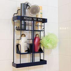 A Tardis shower rack.
