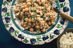 Chickpea salad with lemon, parmesan and fresh herbs
