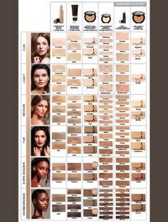 ... Color Chart, Beauty, Younique