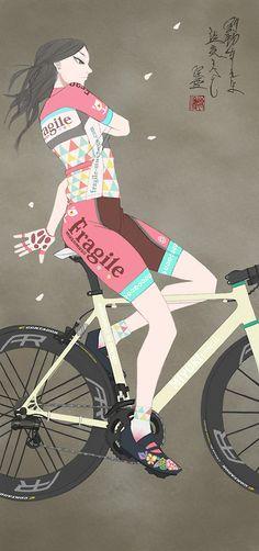 """hurikaeri-musume: (le tour de france 2014 | ムスメミユキから) """