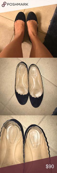 Chloe Navy Blue Swede Flats **Used Chloe Navy Blue Swede Flats Chloe Shoes Flats & Loafers