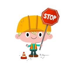 A road worker illustration for my son.