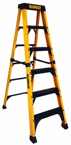 DeWalt Fiberglass Step Ladder Type IAA Manufacture Tested to Folding Ladder, Slip Resistant Shoes, Bathroom Exhaust Fan, Dewalt Tools, Must Have Tools, Mechanic Tools, Professional Tools, Garage, Work Tools