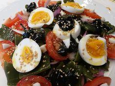 Fácil y Sano : Judias verdes con Huevo y Alioli de Ajos Negros