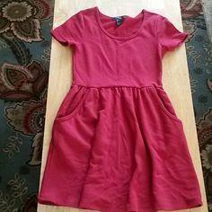 Dress Red cotton dress. Length-30.5' Forever 21 Dresses