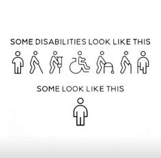 pictame webstagram You can't always see a persons disability. Chronic Illness Humor, Chronic Illness Quotes, Chronic Migraines, Crohns Disease Quotes, Rheumatoid Arthritis, Scoliosis Quotes, Diabetes Quotes, Type One Diabetes, Myasthenia Gravis