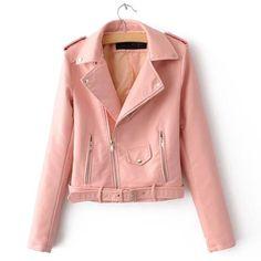 Pinko Jaqueta Slim Com Cinto Rosa