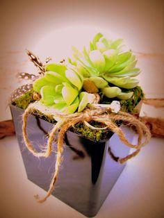 Succulent Moss Ring Bearer Box by TheBackyardGardener on Etsy, $28.50