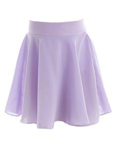 Mesh Ballet Dance Skate SAB Skirt Full Circle Pull-On Purples Pinks Blue S /& M