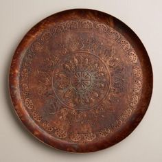 One of my favorite discoveries at WorldMarket.com: Round Copper Tray