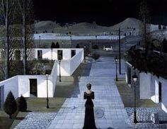 Paul Delvaux, Landscape with Lanterns (1958).