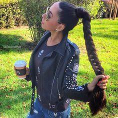 🐛✨Best Braid✨🐛 Model: 🇷🇺 Russia Portfolio: 📷 See all post 👉 📋: Super thick & healthy 😱 Braided Ponytail Hairstyles, Down Hairstyles, Braid Hair, Shave Her Head, Beautiful Long Hair, Amazing Hair, Pinterest Hair, Cut My Hair, Very Long Hair