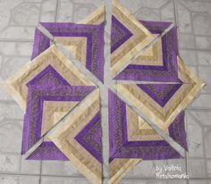 Patchwork by Valéria - Retalhomania: W.I.P./Fan Dance, Strata Quilt, Log Cabin Dance