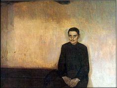 """Ejnar Nielsen: """"Og i hans øjne så jeg døden"""" - 1897 """" And in his eyes I saw Death"""" Painter Artist, Scandinavian Art, Inspiration Art, Various Artists, Cool Art, Arts And Crafts, Artsy, Paintings, Death"""