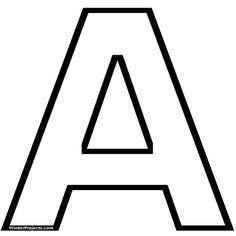 Alfabeto para imprimir y colorear letras muy grandes         |          Colorear dibujos infantiles