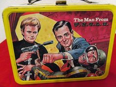 The Man from U.N.C.L.E. Lunch Box (Vintage 1966 Metal Lunchbox with Thermos, Antique Lunchbox, The Man from UNCLE)