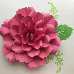 PDF Paper Flower template with Center, Digital Version, Original by Annie Rose #137
