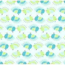 Pinfeather Tweets Fabric, Cotton, Design, Tejido, Tela, Cloths, Fabrics, Tejidos