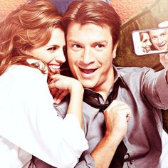 Nathan Fillion and Stana Katic - Castle photo shoot