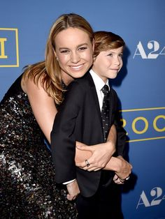 Actress Brie Larson (L) and actor Jacob Tremblay arrive at the premiere of the movie 'Room' on October 13, 2015 in West Hollywood, California.   Kevin Winter, Getty Images