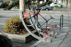 wooden bike rack plans
