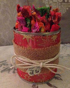 Randis hobbyverden: Dekorert metallboks med godteri