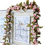 Guirlande de roses artificielles Style vintage chic 220 cm