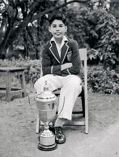 Freddie Mercury: Awesome at an early age.  [From context, I infer he was excellent at cricket.]