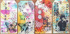 Art journaling: Tag à l'encaustique
