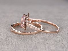Payment plan for special customer:2pcs Morganite Bridal by popRing