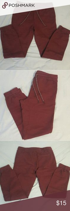 Jogger pants - Color Maroon Comfortable Joggers. They are a little baggy but not to much. Aeropostale Pants Sweatpants & Joggers