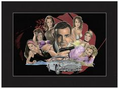 James Bond 1960s -- Bond, James Bond.   Everyone who knows him knows that Jonathan Brown is a HUGE 007 Fan!   H-U-G-E!    Show that you're one, too, by displaying this print of James and his lovely ladies from the 1960s Bond films.  $30 http://www.jwbartunlimited.com/collections/jwb-cinema-tv-collection/products/james-bond-1960s