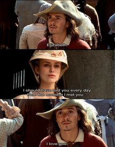 Pirates of the Caribbean Elizabeth Swann and Will Turner My favourite part of all of the pirates Will And Elizabeth, Elizabeth Swann, The Pirates, Pirates Of The Caribbean, Will Turner, Narnia, Pirate Life, Captain Jack, Cinema
