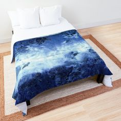 """Saltwater Blues"" Comforter by ninabmay 