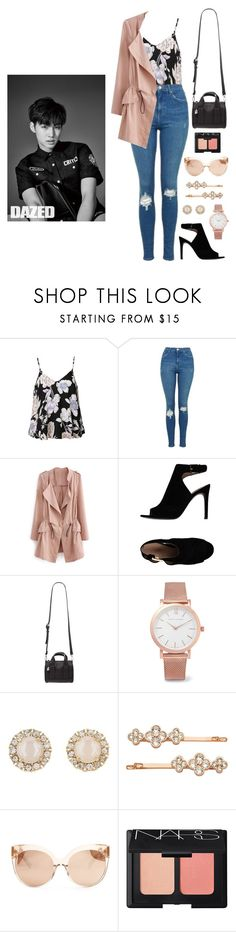 """JB's ideal type (fall)"" by got7outfits ❤ liked on Polyvore featuring Ally Fashion, Topshop, Tory Burch, Forever 21, Larsson & Jennings, Kate Spade, Henri Bendel, Linda Farrow and NARS Cosmetics"