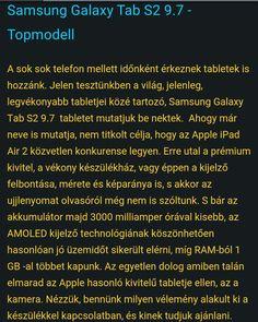 Ezúttal egy prémium Tablet a célkeresztben  http://www.vizualteszt.hu/tesztek/android-tabletek/64-samsung-galaxy-tab-s2.html  #samsungmagyarország #samsungmagyarorszag #samsung