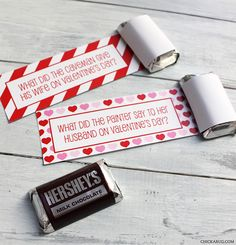 Free printable Valentine's Day school lunch jokes from #chickabug. These would be perfect Valentine's too. I adore them.