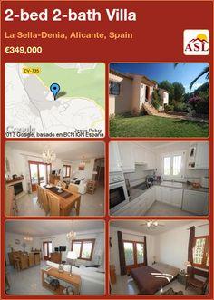 2-bed 2-bath Villa in La Sella-Denia, Alicante, Spain ►€349,000 #PropertyForSaleInSpain