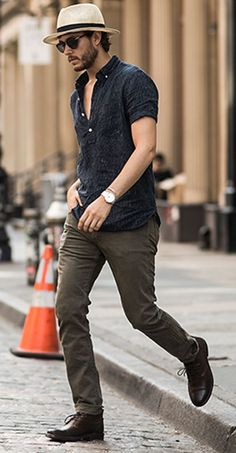 Summer Outfit with Hat For men http://www.99wtf.net/category/young-style/urban-style/